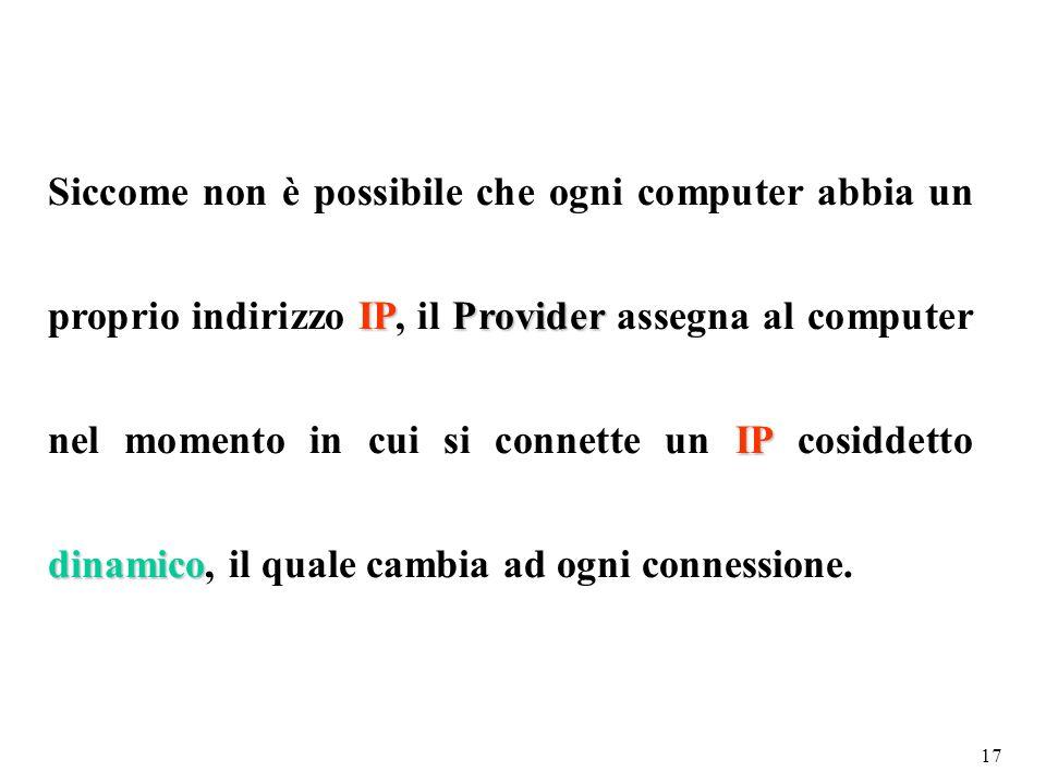 16 Configurazione manuale dellindirizzo IP sulle schede di rete