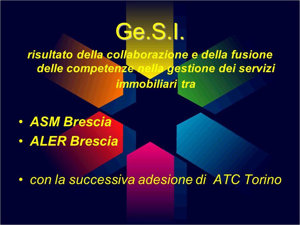 Ge.S.I. risultato della collaborazione e della fusione delle competenze nella gestione dei servizi immobiliari tra ASM Brescia ALER Brescia con la suc