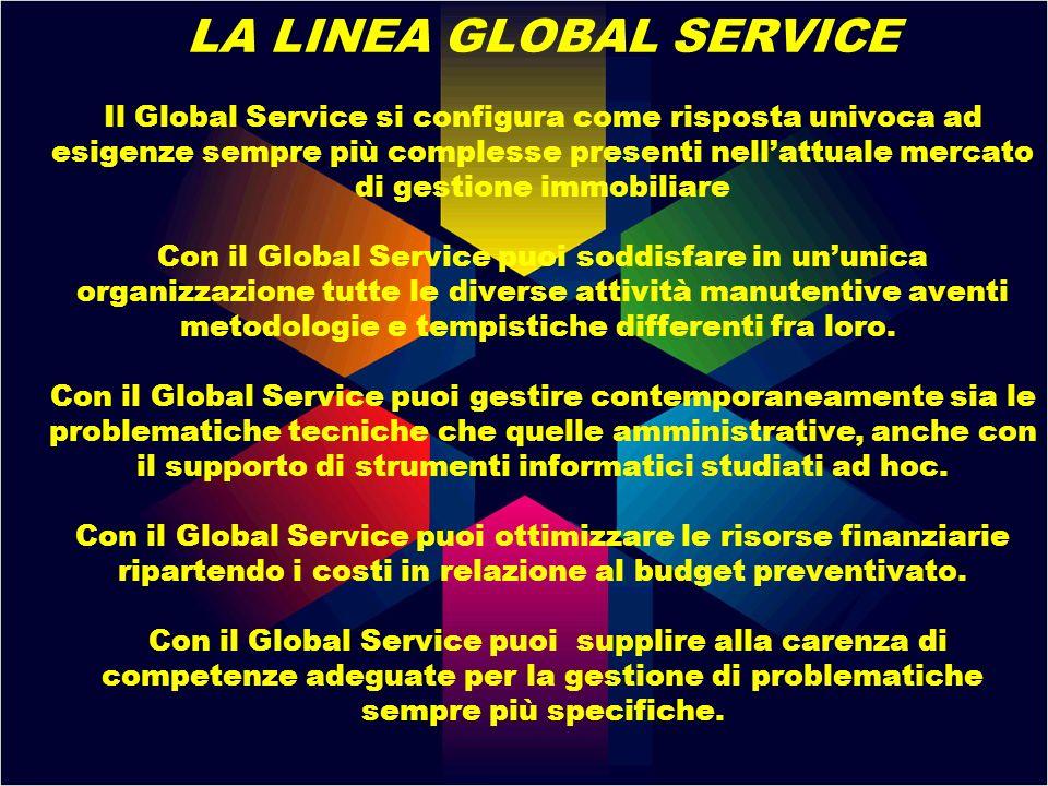 LA LINEA GLOBAL SERVICE Il Global Service si configura come risposta univoca ad esigenze sempre più complesse presenti nellattuale mercato di gestione