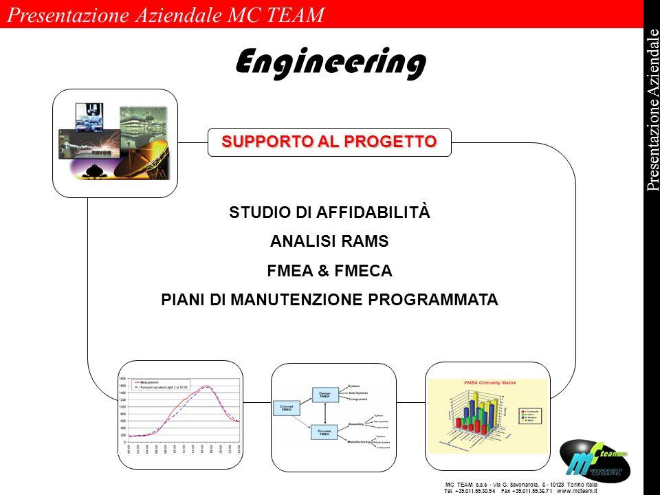 Presentazione Aziendale MC TEAM Pagina 11 di 11 Presentazione Aziendale MC TEAM s.a.s - Via G. Savonarola, 6 - 10128 Torino Italia Tel. +39.011.59.30.
