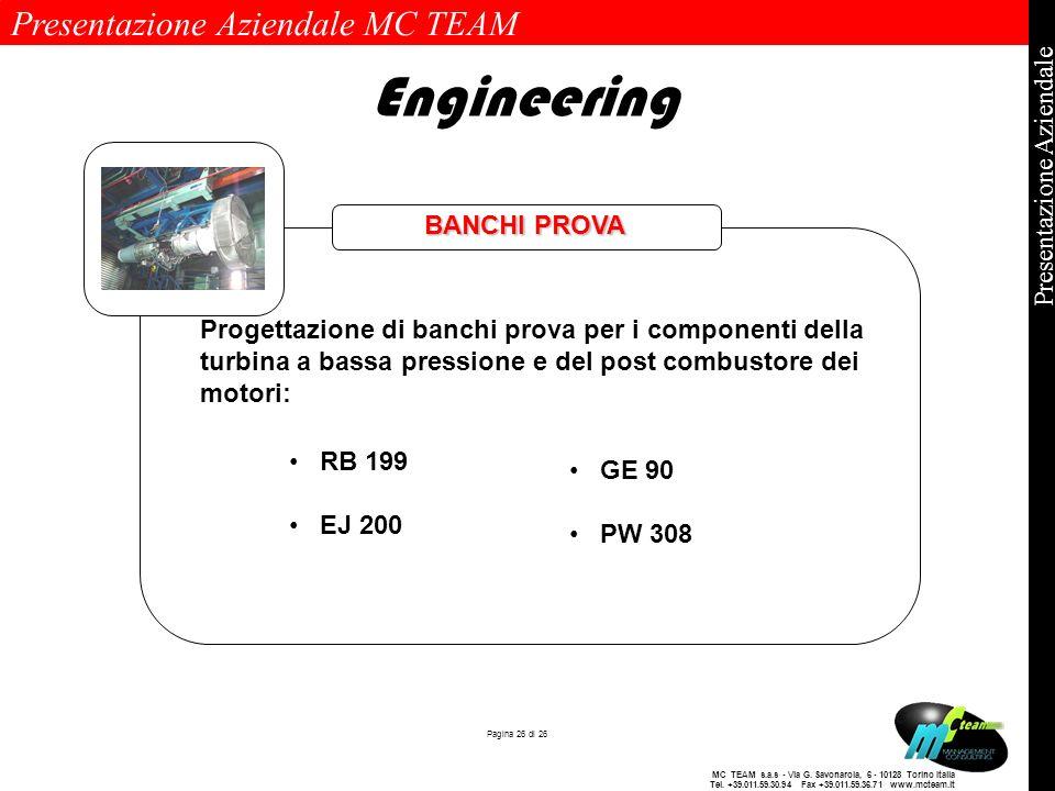 Presentazione Aziendale MC TEAM Pagina 26 di 26 Presentazione Aziendale MC TEAM s.a.s - Via G. Savonarola, 6 - 10128 Torino Italia Tel. +39.011.59.30.