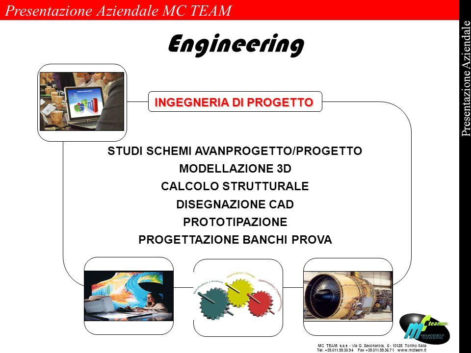 Presentazione Aziendale MC TEAM Pagina 9 di 9 Presentazione Aziendale MC TEAM s.a.s - Via G. Savonarola, 6 - 10128 Torino Italia Tel. +39.011.59.30.94