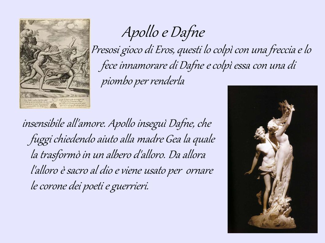 Apollo e Giacinto Apollo aveva un grande amico nella terra di Sparta, Giacinto, un giovane atleta, col quale si allenava sempre.