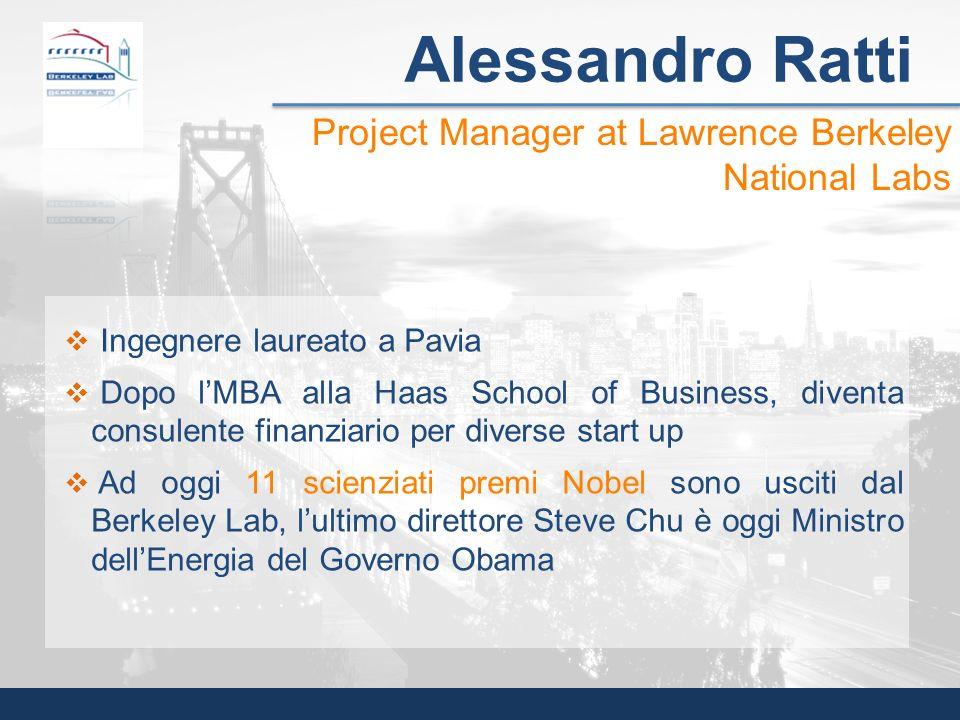 Ingegnere laureato a Pavia Dopo lMBA alla Haas School of Business, diventa consulente finanziario per diverse start up Ad oggi 11 scienziati premi Nob