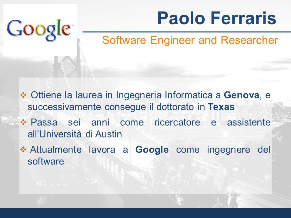 Ottiene la laurea in Ingegneria Informatica a Genova, e successivamente consegue il dottorato in Texas Passa sei anni come ricercatore e assistente al