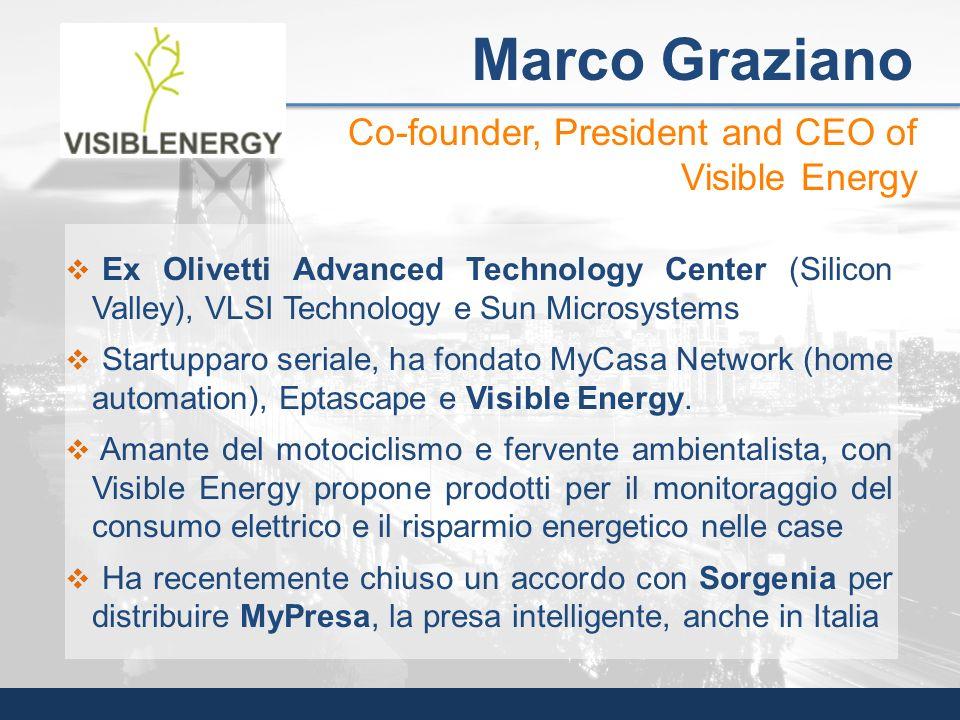 Ex Olivetti Advanced Technology Center (Silicon Valley), VLSI Technology e Sun Microsystems Startupparo seriale, ha fondato MyCasa Network (home autom