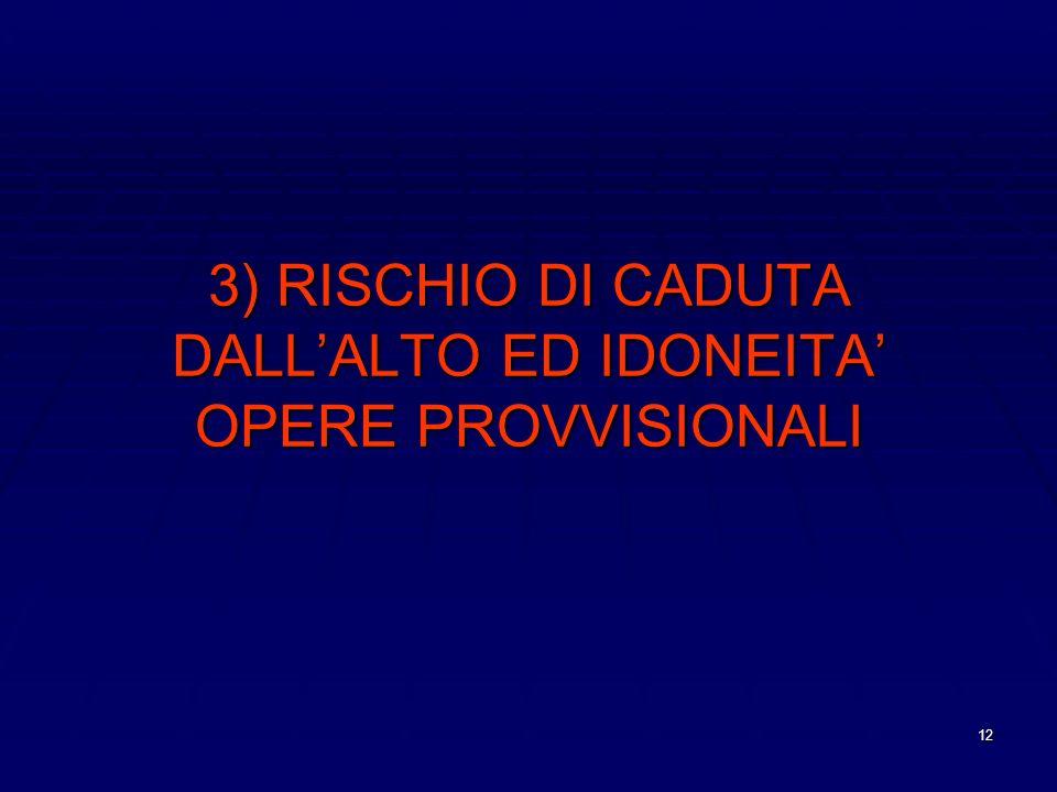 12 3) RISCHIO DI CADUTA DALLALTO ED IDONEITA OPERE PROVVISIONALI