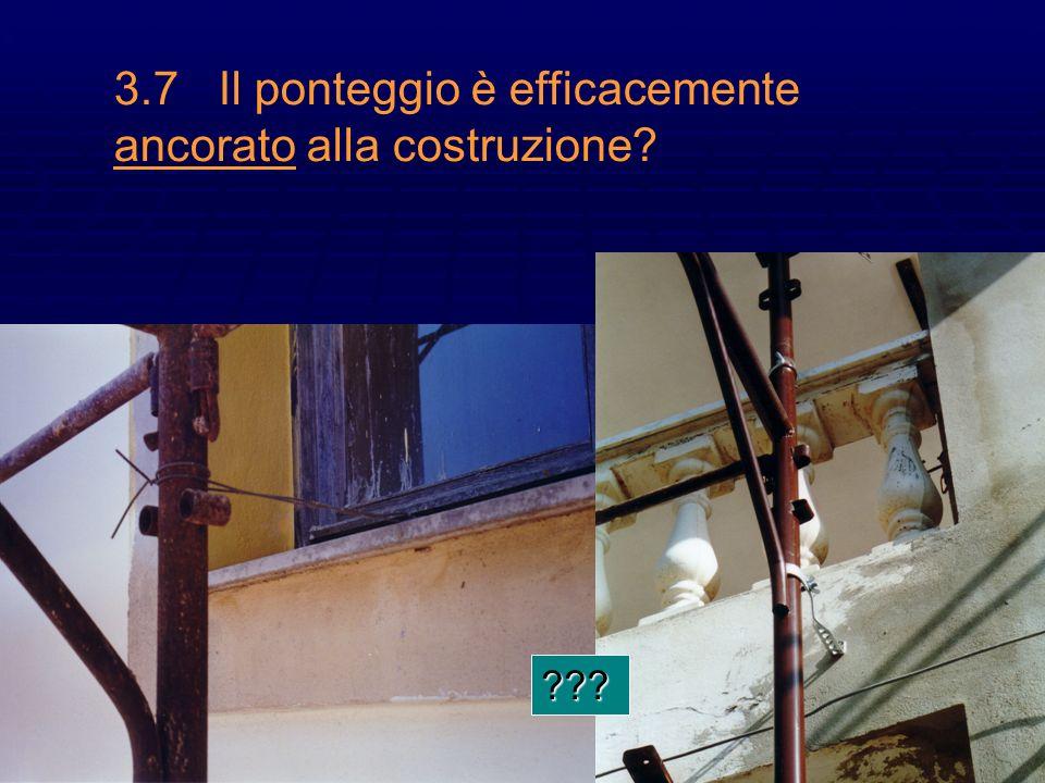 19 3.7Il ponteggio è efficacemente ancorato alla costruzione? ???