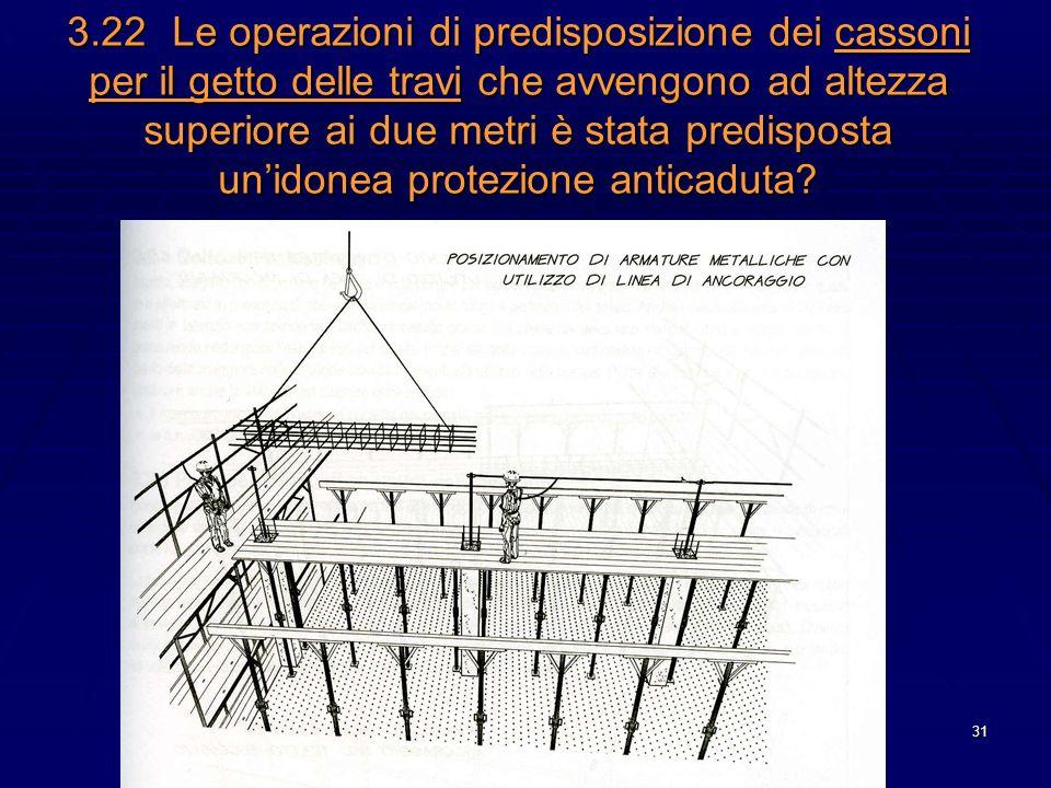 31 3.22Le operazioni di predisposizione dei cassoni per il getto delle travi che avvengono ad altezza superiore ai due metri è stata predisposta unido