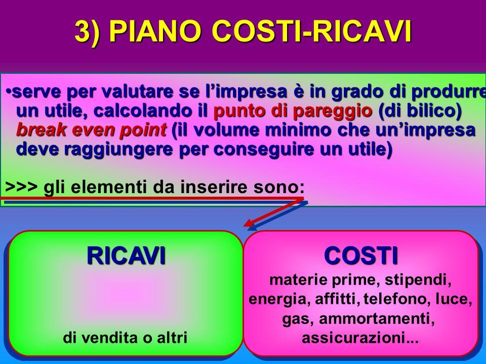 2) PIANO DELLE FONTI DI FINANZIAMENTO indica con quali fonti lImprenditore acquisterà i beniindica con quali fonti lImprenditore acquisterà i beni nec