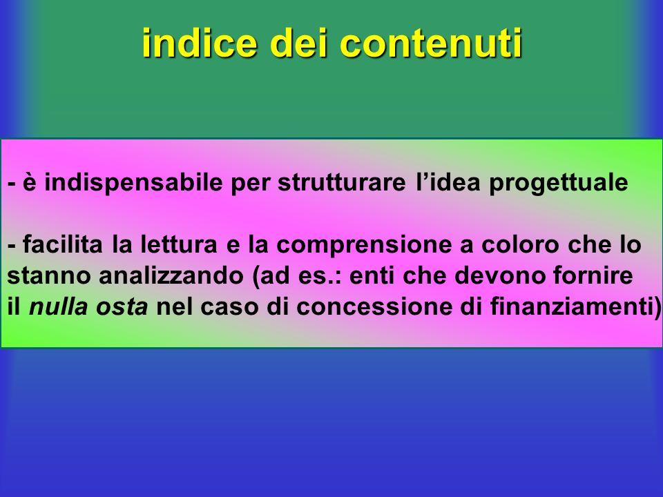 struttura del BP indice contenuti (strutturazione dellidea progettuale) Executive Summary (descrizione sintetica del progetto) profilo professionale d