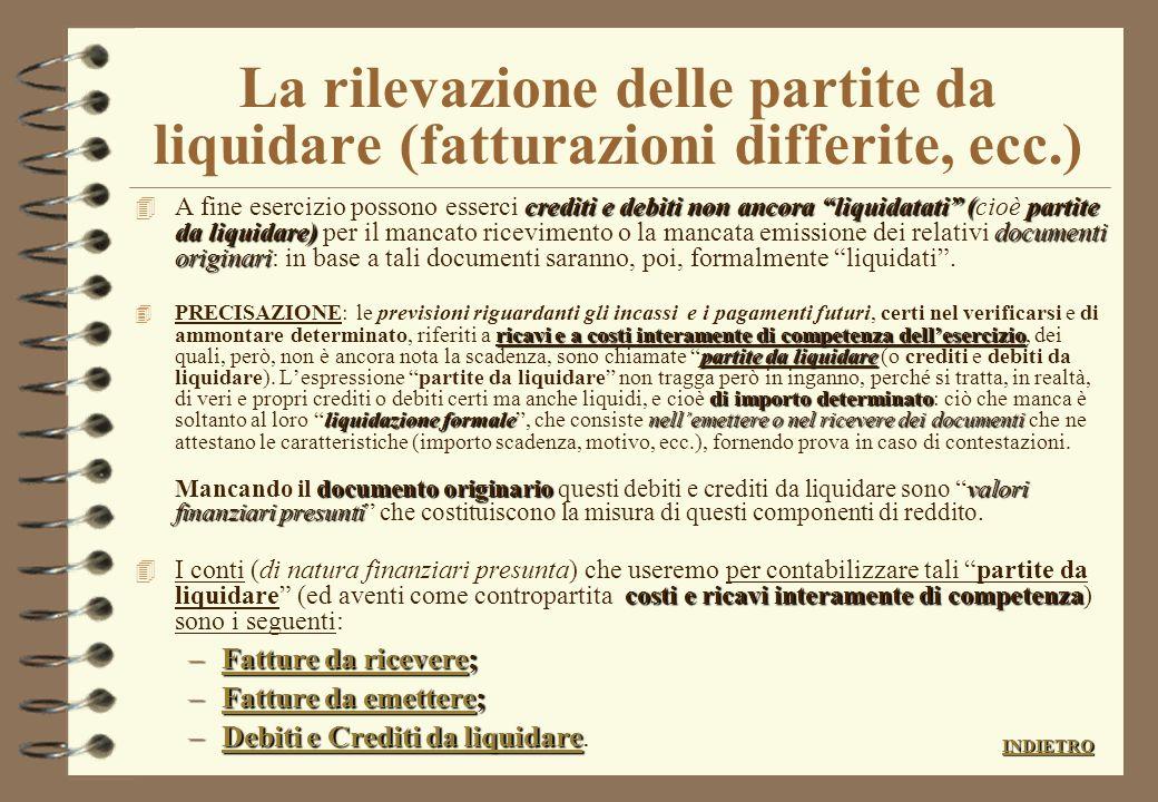 Rilevazione della liquidazione delle competenze bancarie dellultimo periodo 4 I conti correnti bancari maturano competenze con cadenza trimestrale. 4