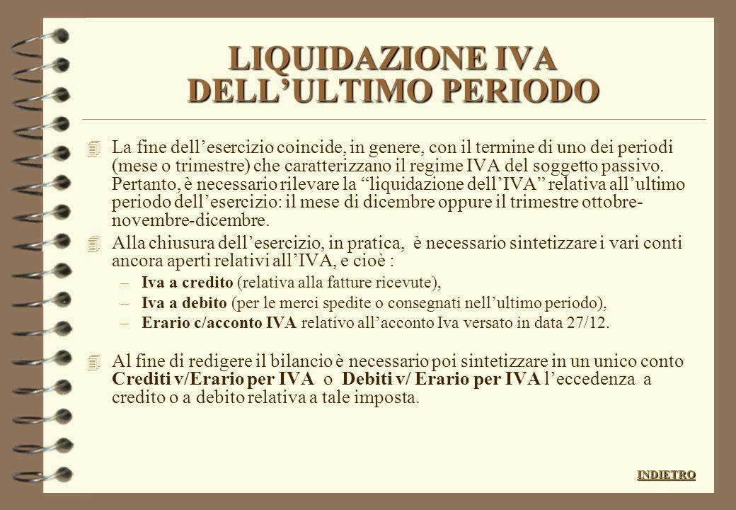 La rilevazione delle partite da liquidare (fatturazioni differite, ecc.) crediti e debiti non ancora liquidatati (partite da liquidare)documenti origi
