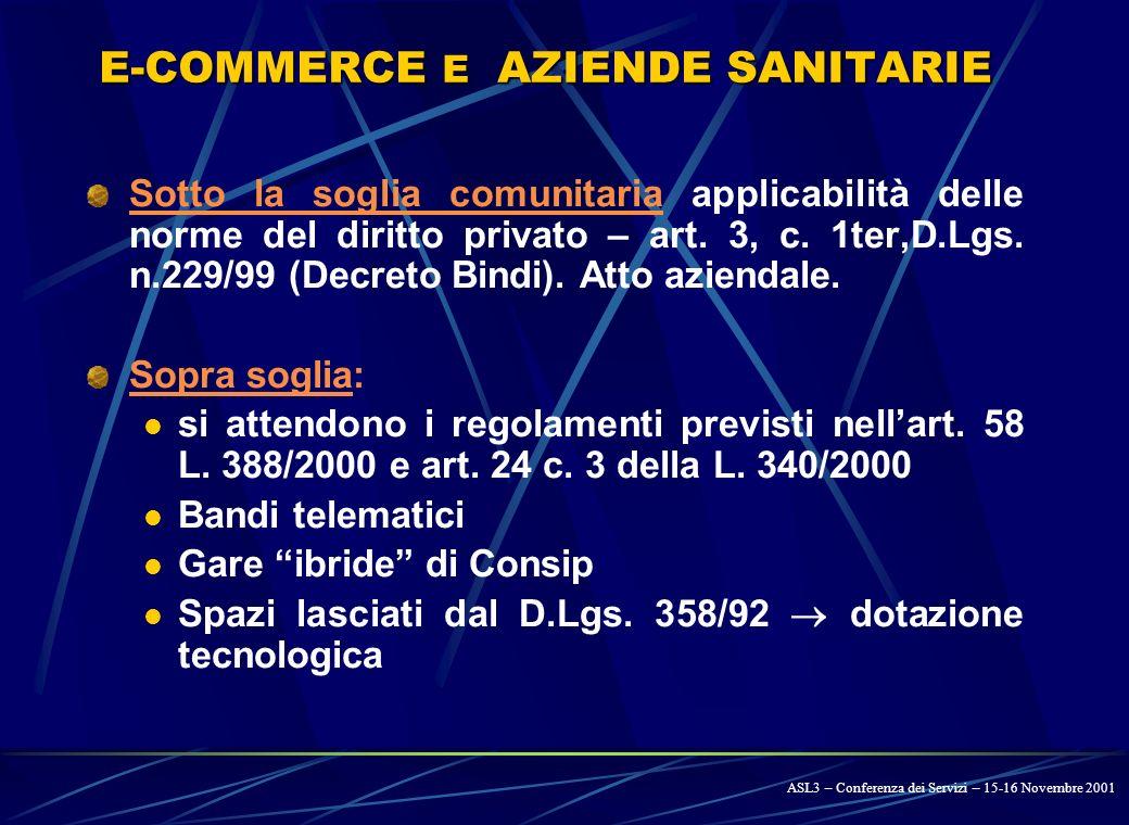 IN ITALIA - 7 D.L. 18 SETTEMBRE 2001, n. 347: Interventi urgenti in materia sanitaria: Art.