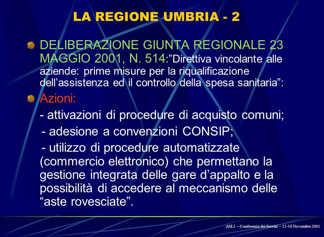 LA REGIONE UMBRIA - 1 L.R. 27 MARZO 2000, N. 29 – Prime disposizioni di recepimento del D.