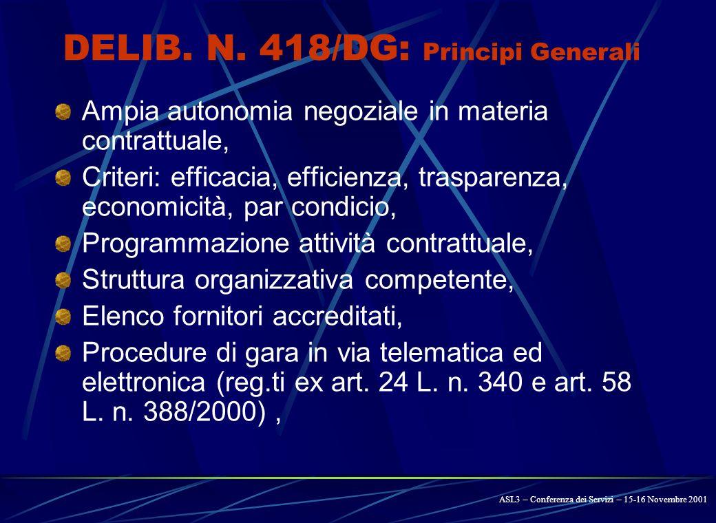 AZIENDA SANITARIA LOCALE N. 3 - 1 DELIBERAZIONE DIRETTORE GENERALE n.