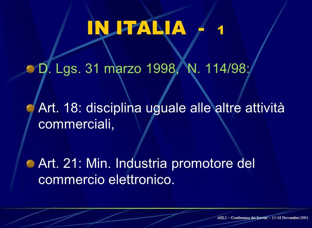 IN EUROPA - 4 COMMISSIONE EUROPEA: COMUNICAZIONE N.