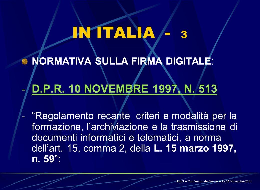 Legge 15 marzo 1997, n. 59 : Riforma della P.A. e semplificazione amministrativa.
