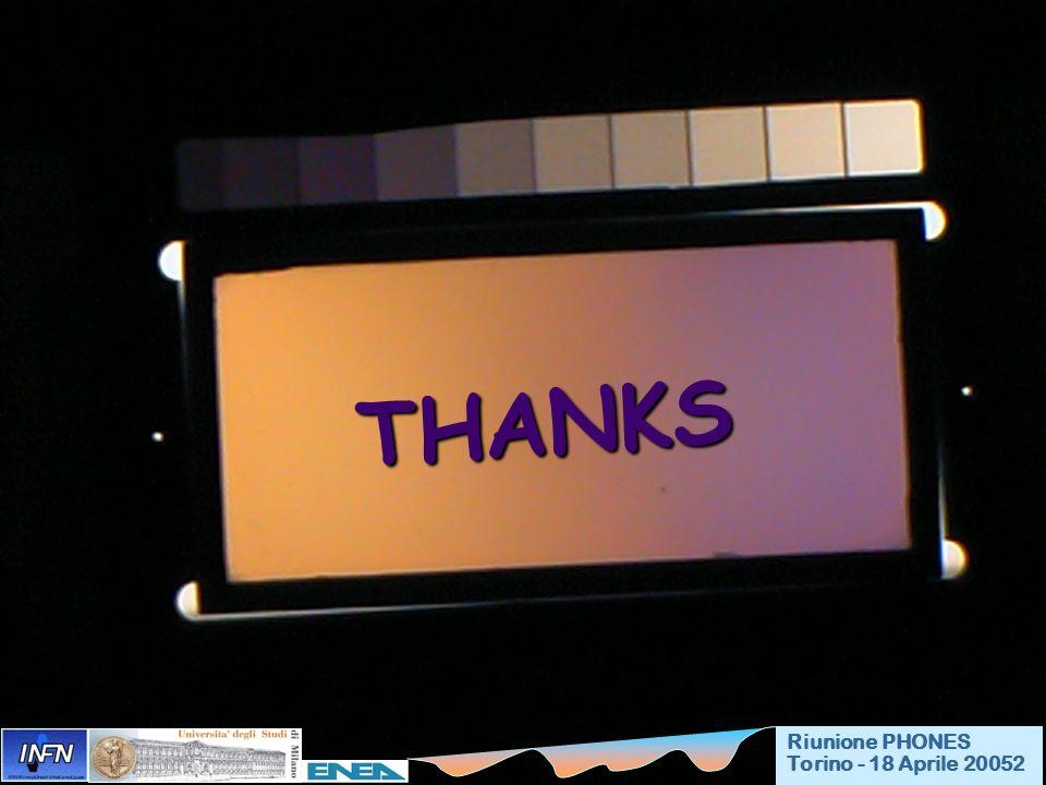 THANKS THANKS Riunione PHONES Torino - 18 Aprile 20052