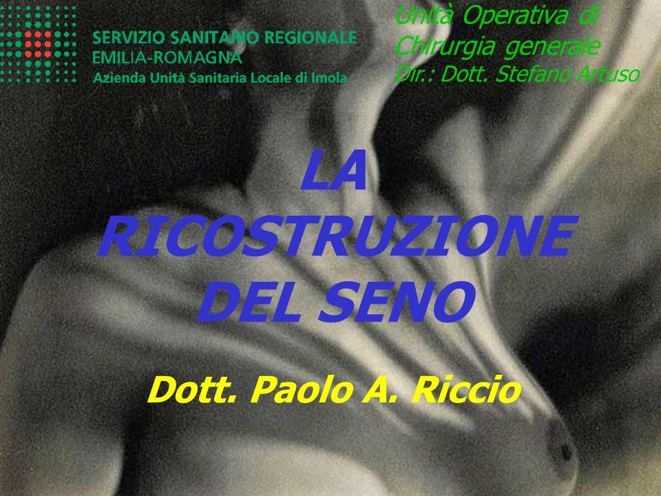 LA RICOSTRUZIONE DEL SENO Unità Operativa di Chirurgia generale Dir.: Dott. Stefano Artuso Dott. Paolo A. Riccio