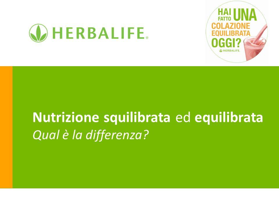 Nutrizione squilibrata ed equilibrata Qual è la differenza?