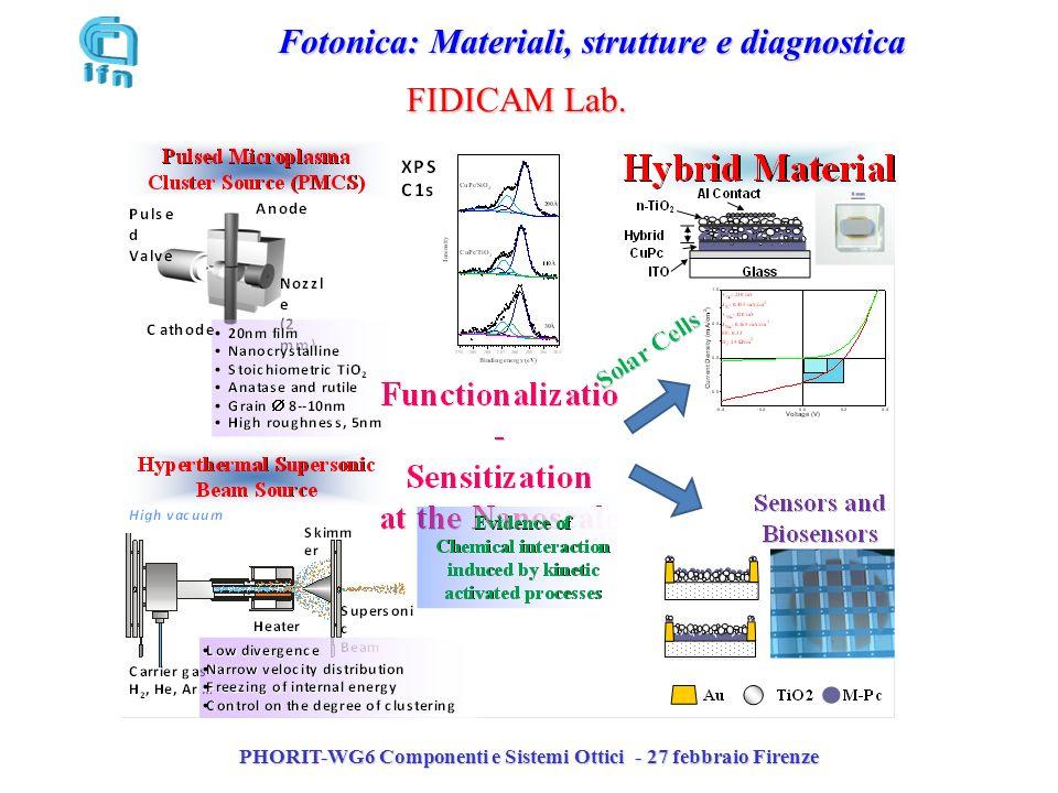 PHORIT-WG6 Componenti e Sistemi Ottici - 27 febbraio Firenze Fotonica: Materiali, strutture e diagnostica FIDICAM Lab.