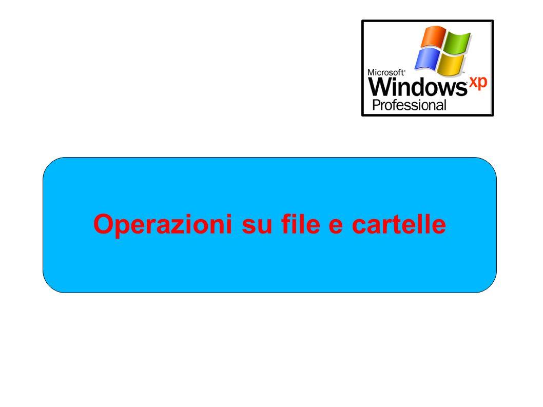 . Operazioni su file e cartelle