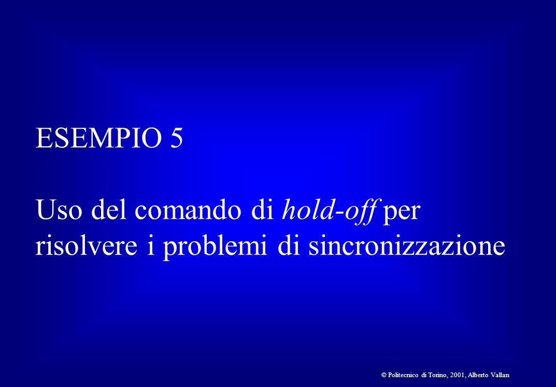 ESEMPIO 5 Uso del comando di hold-off per risolvere i problemi di sincronizzazione