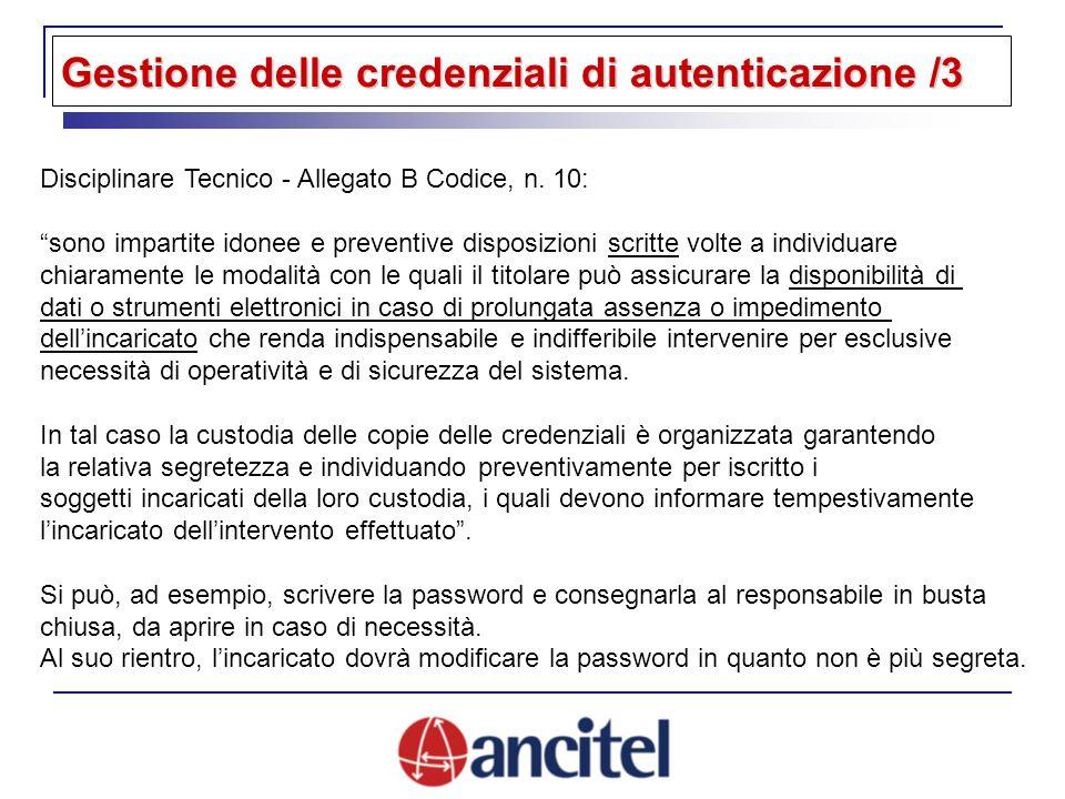 Disciplinare Tecnico - Allegato B Codice, n.