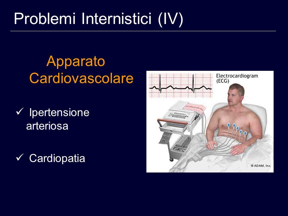 Apparato Cardiovascolare Ipertensione arteriosa Cardiopatia Problemi Internistici (IV)