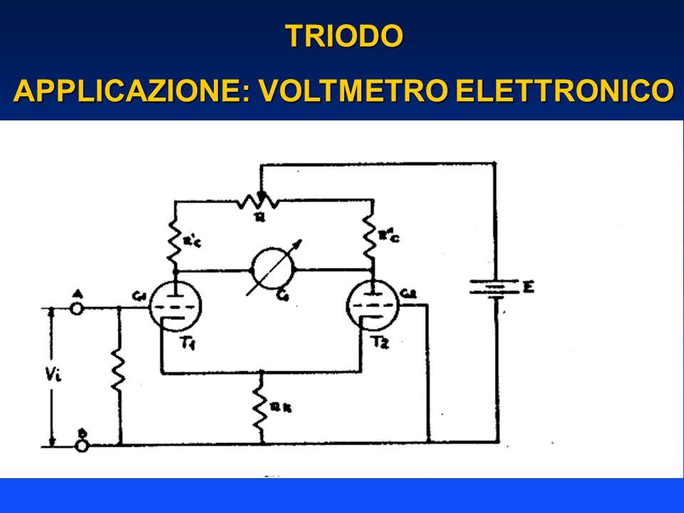 TRIODO APPLICAZIONE: VOLTMETRO ELETTRONICO