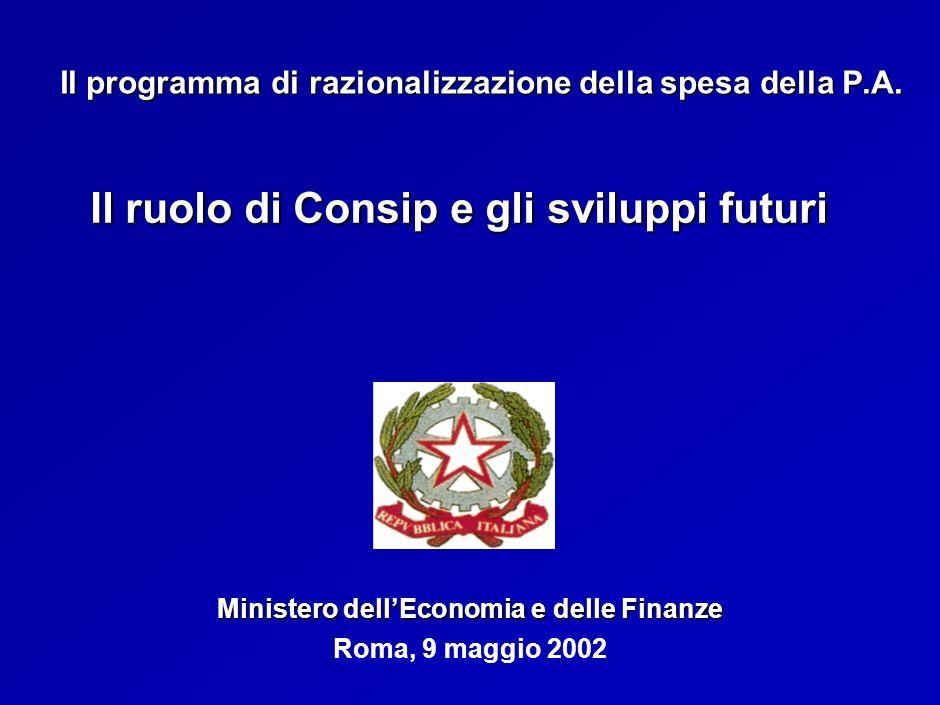Roma, 9 maggio 2002 Il programma di razionalizzazione della spesa della P.A.