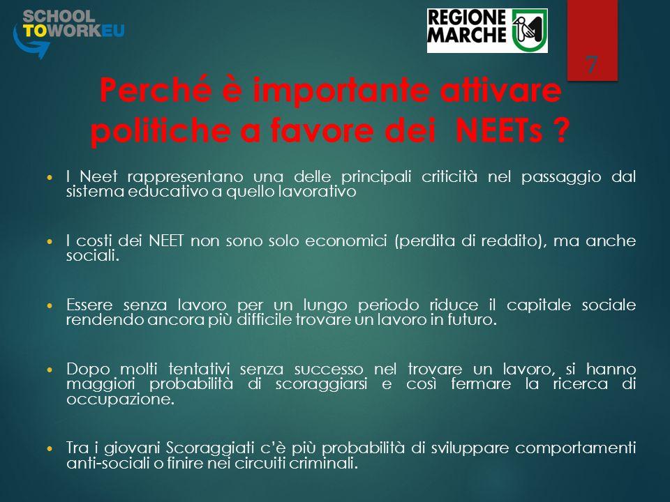 Report nazionale sui Neet 8 In base ai dati Istat (Istat, 2012) i NEETs in Italia sono circa 2.110.000.