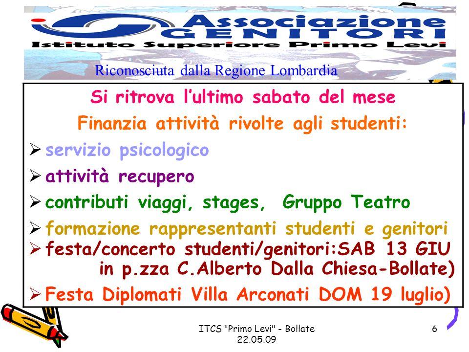 ITCS Primo Levi - Bollate 22.05.09 7 1.VARIAZIONE indirizzo e/o telefono 2.STATI di SALUTE (NO attivita Ed.