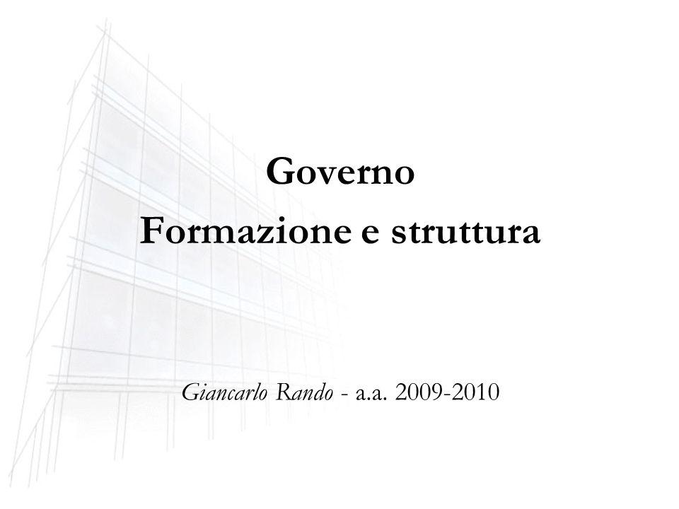 Governo Formazione e struttura Giancarlo Rando - a.a. 2009-2010