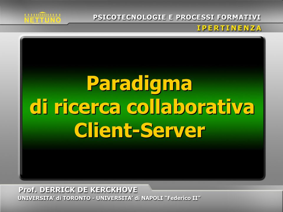Paradigma di ricerca collaborativa Client-Server
