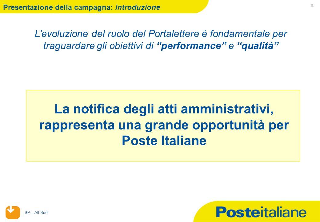 29/04/2014 SP – Alt Sud 5 Presentazione : Messo Notificatore Napoli e Provincia E stato definito un sistema di incentivazione ad hoc per le attività di notifica messi a Napoli e Provincia, con durata dal 1 febbraio 2012 al 30 aprile 2012.