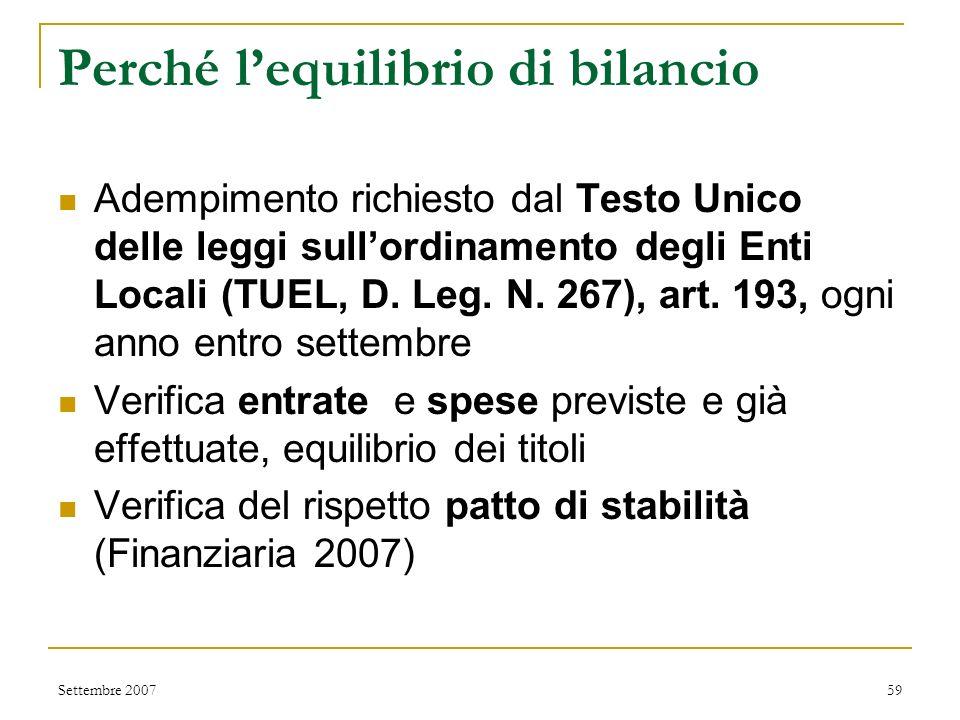 San Severino Marche Equilibrio di bilancio 2007 www.comune.sanseverinomarche.mc.it Settembre 200758