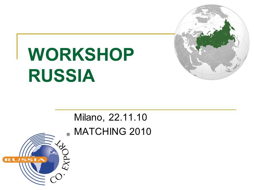 Co.Export in Cifre Co.Export Russia e` stato fondato nel 2005 In 5 anni abbiamo effetuato 17 missioni Nel 2007 2 missioni che sono composte di 22 aziende.