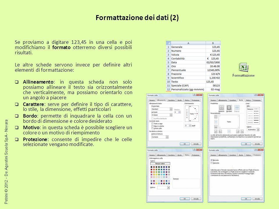 Formattazione automatica e condizionale (1) Un modo per creare un foglio di lavoro contenente unintestazione e dei totali con un aspetto piacevole è quello di sfruttare le capacità di formattazione predefinite.