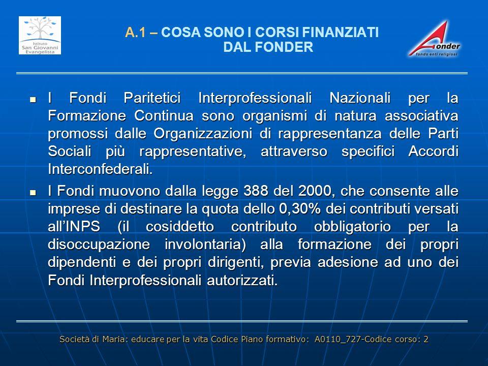 LA SITUAZIONE DELLE ATTIVITA DI ISTRUZIONE CATTOLICA IN ITALIA: UNA LINEA DI TENDENZA D - IL PIANO DI RILANCIO ISGE LA SITUAZIONE DELLE ATTIVITA DI ISTRUZIONE CATTOLICA IN ITALIA: UNA LINEA DI TENDENZA Perdita governo missione Cogestione Governo missione Servizio educativo diretto Servizio educativo delegato Accoglienza gestione diretta Accoglienza gestione esterna Vendita immobile Società di Maria: educare per la vita Codice Piano formativo: A0110_727-Codice corso: 2