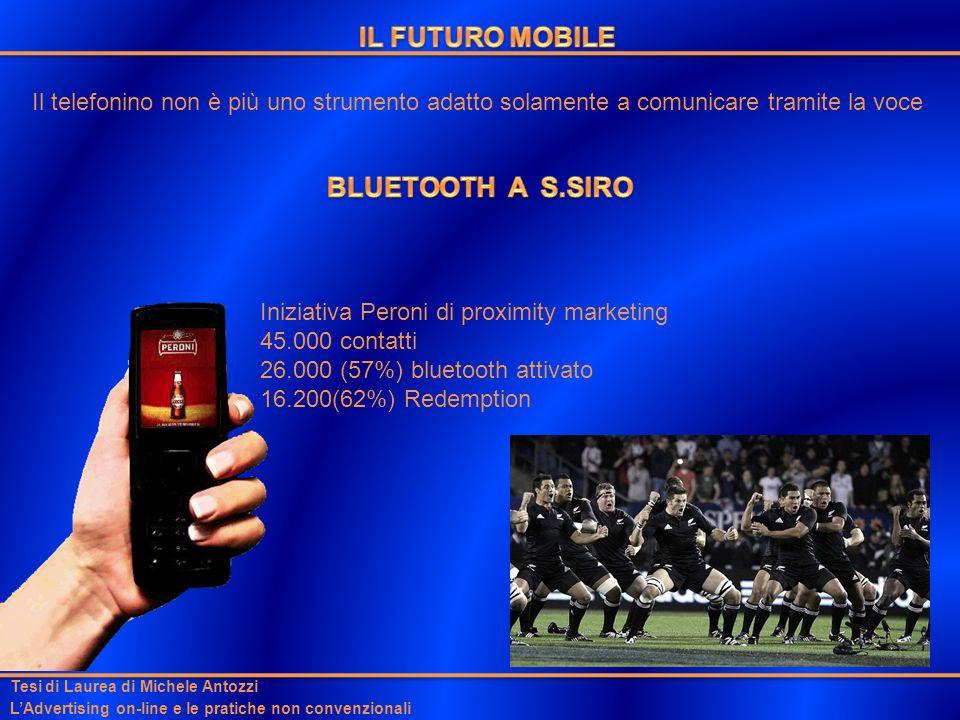 Il telefonino non è più uno strumento adatto solamente a comunicare tramite la voce Tesi di Laurea di Michele Antozzi LAdvertising on-line e le pratic