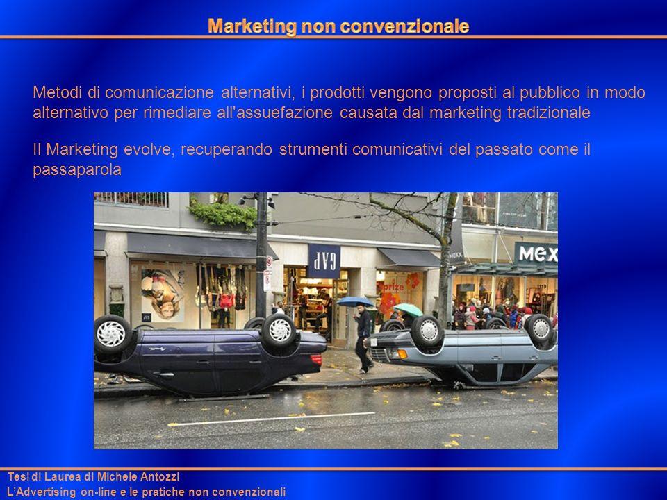 Tesi di Laurea di Michele Antozzi LAdvertising on-line e le pratiche non convenzionali Metodi di comunicazione alternativi, i prodotti vengono propost