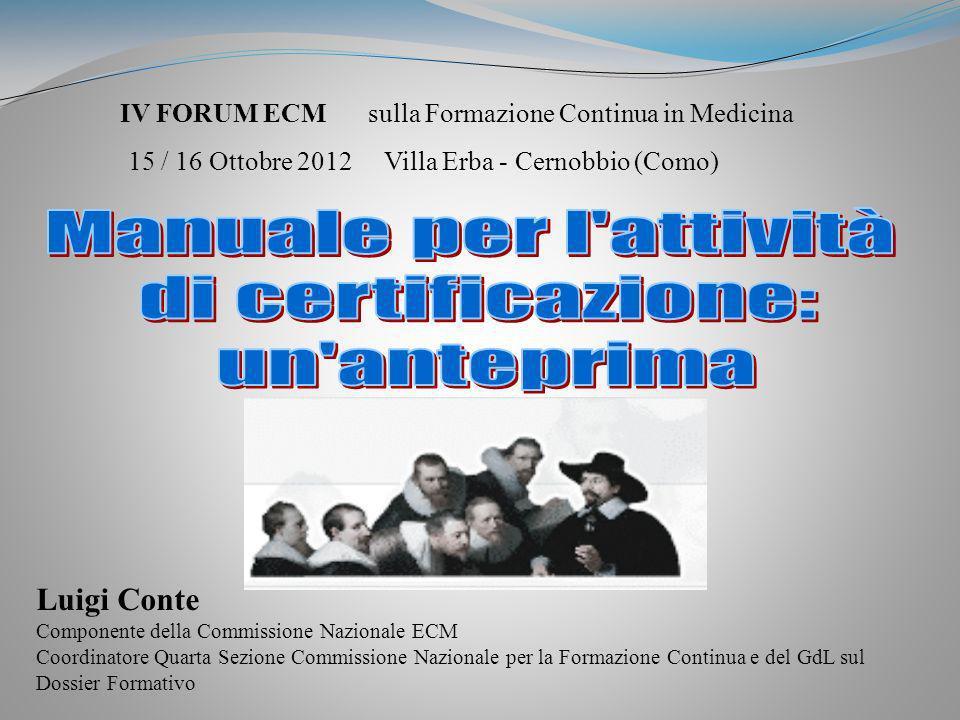 Quadro sinottico delle funzioni degli Ordini Collegi ed Associazioni nellECM Luigi Conte