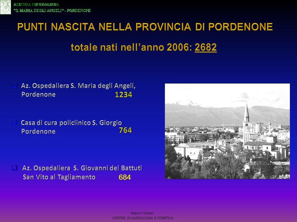 SETT.-OTT.2006: Studio di fattibilita su 144 neonati presso AOSMA.
