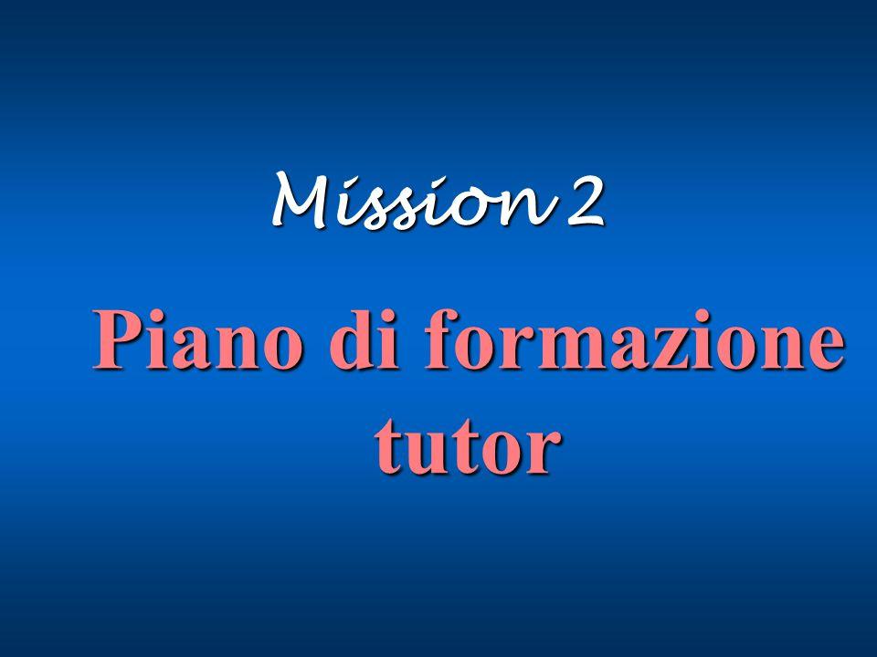 Piano di formazione tutor Mission 2