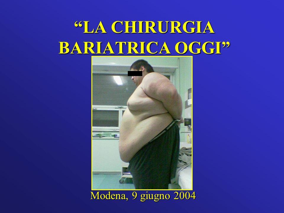 LA CHIRURGIA BARIATRICA OGGI Modena, 9 giugno 2004