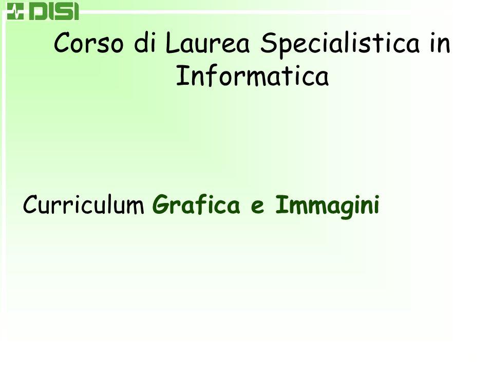 Corso di Laurea Specialistica in Informatica Curriculum Grafica e Immagini