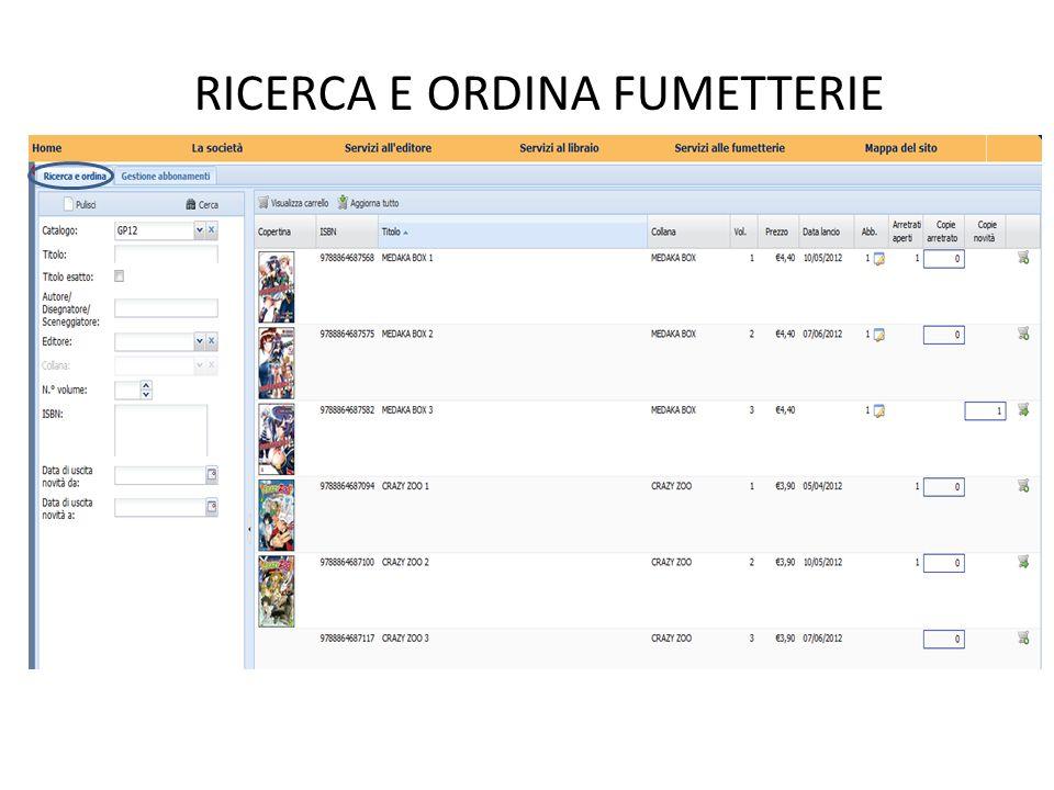 Tramite lopzione «Catalogo» si possono elencare immediatamente tutti i prodotti contenuti in un determinato catalogo.