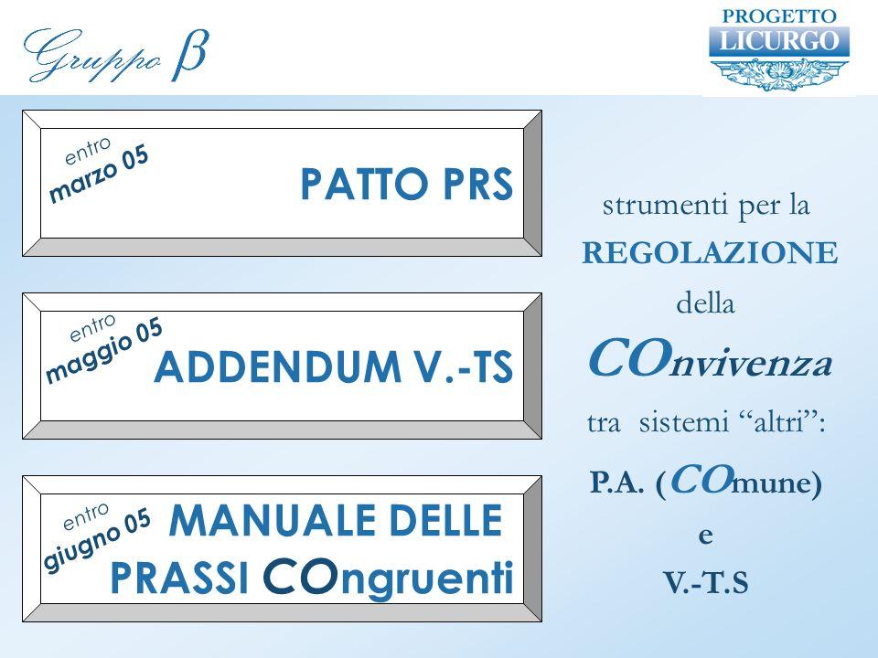strumenti per la REGOLAZIONE della CO nvivenza tra sistemi altri: P.A.